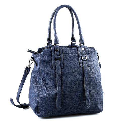 Navy Blue Handbag Dark Purse Montana Messenger Leather Tote