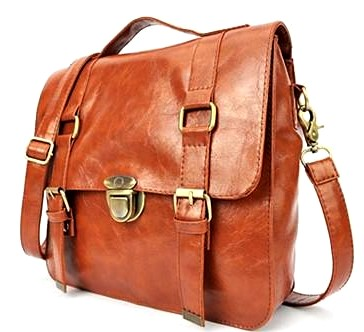 Codnac Brown PU Leather Handbag
