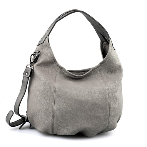 Grey Leather Hobo. Grey Handbag. Grey Purse. Shoulder Bag. Grey ...