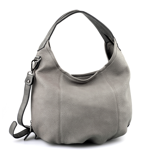 Grey Leather Tote, Hobo Handbag, Shopper, Tote, Grey Leather ...