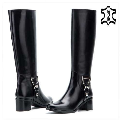 Black Boots Winter Boots Knee Boots Real Leather Boots Genuine Leather Boots