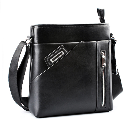 Black Men Bag Reporter Men Bag Tote Synthetic Leather Bag Black Hobo Bag