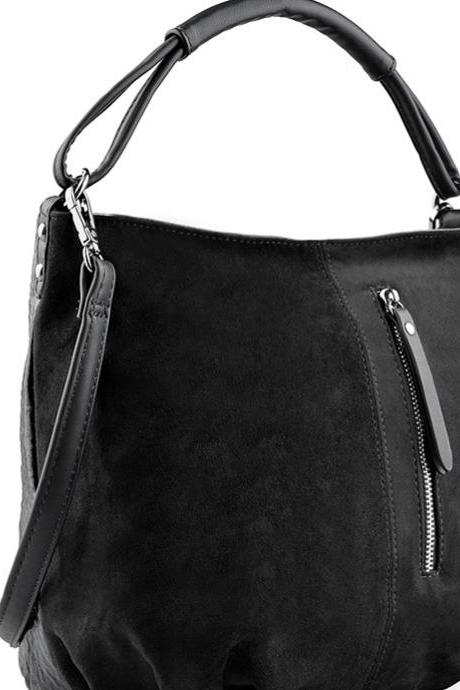 Leather Purse, Black Handbag, Leather Tote, Leather Hobo
