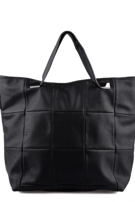 Black Leather Tote, Hobo Handbag, Shopper, Tote, Black Leather Handbag, Black Purse, Leather Purse