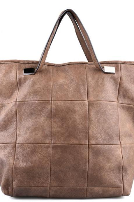 Beige Leather Purse, Beige Handbag, Beige Leather Tote, Beige Leather Hobo