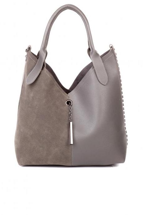 Taupe Brown Leather Tote, Hobo Handbag, Buckle Tote, Tan Leather Handbag, Tan Purse, Leather Purse. Fall-Winter 2014/2015 Handbags.