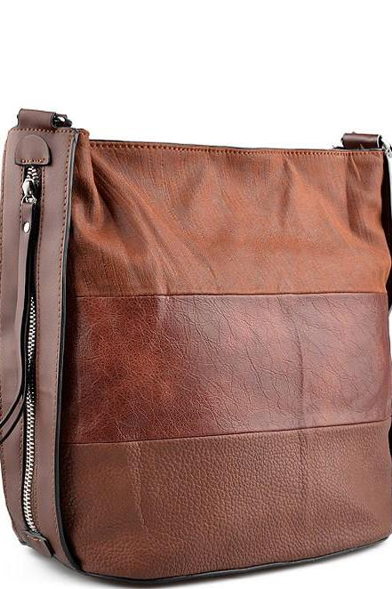 Brown PU Handbag Leather Bag